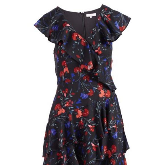 dff4647eba0c Parker Abrico Floral Ruffle Fit   Flare Dress